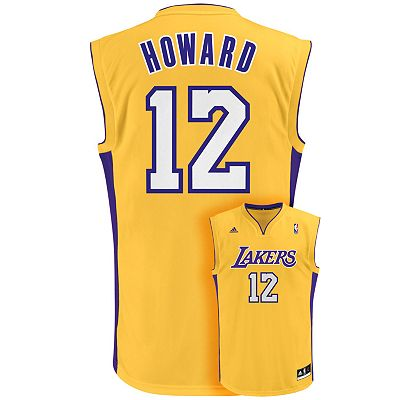 adidas Los Angeles Lakers Dwight Howard Team Color NBA Jersey - Boys 8-20