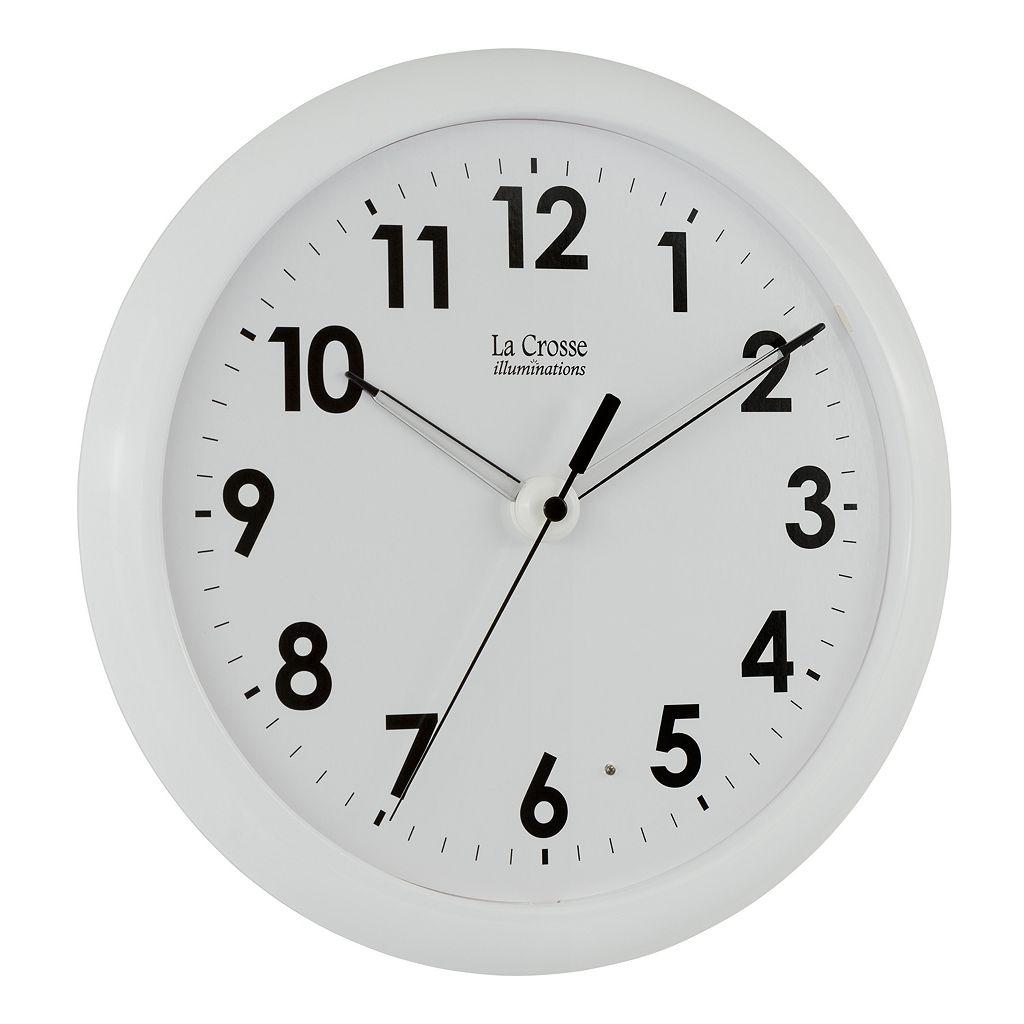 La Crosse Illuminations 10-in. Wall Clock