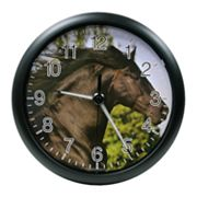 La Crosse Illuminations 10-in. Horse Wall Clock