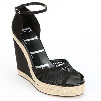 ELLE Peep-Toe Platform Wedge Sandals - Women
