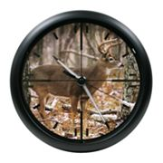 La Crosse Illuminations 10-in. Whitetail Deer Wall Clock