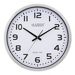 La Crosse Technology 20 in Atomic Analog Wall Clock