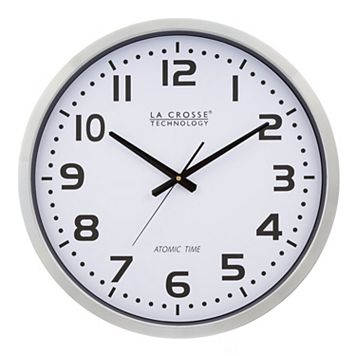 La Crosse Technology 20-in. Atomic Analog Wall Clock