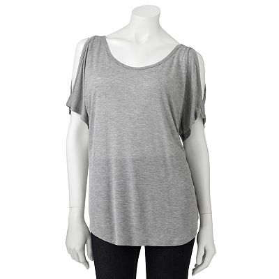 Mudd Cold-Shoulder Top - Juniors