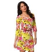 daisy fuentes Floral Shift Dress - Petite
