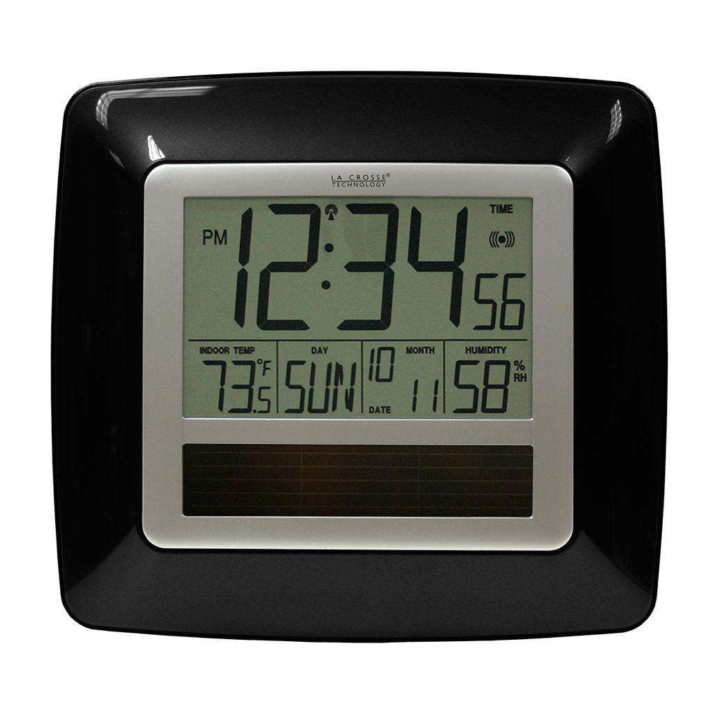 La Crosse Technology Solar Atomic Wall Clock