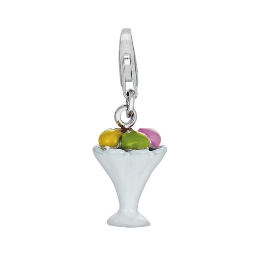 Sterling Silver Ice Cream Sundae Charm