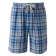 Chaps Plaid Lounge Shorts - Big and Tall