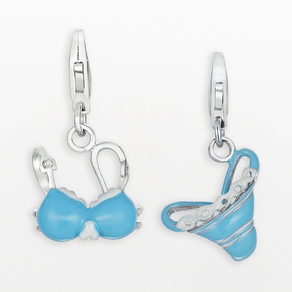 Sterling Silver Bikini Charm Set