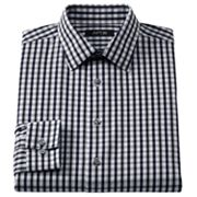 Apt. 9 Slim-Fit Checked Spread-Collar Dress Shirt