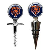 Chicago Bears Cork Screw and Wine Bottle Topper Set