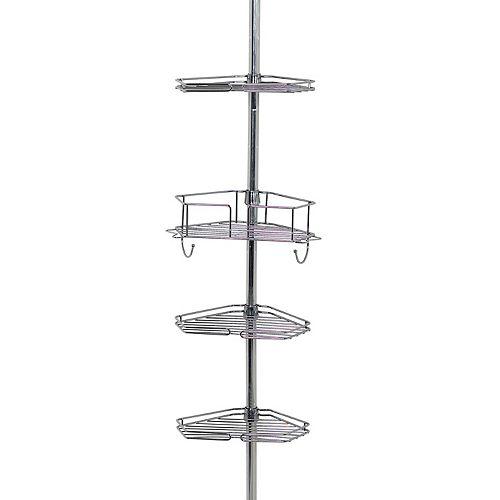 Zenna Home 4-Tier Pole Shower Organizer