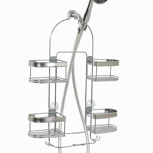 Zenna Home Premium Chrome Nickel Finish Expandable Shower Caddy