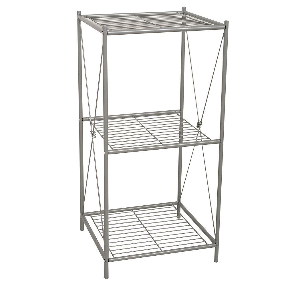 Zenna Home Cross Style 3-Shelf Floor Stand