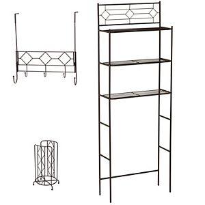 Zenna Home Geometric 3-pc. Bath Storage Set