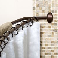 Zenna Home Double Curved Shower Curtain Rod