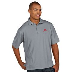 Men's Antigua Wisconsin Badgers Pique Xtra Lite Polo