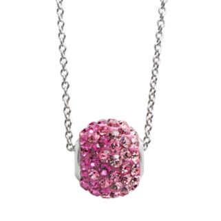 Silver Plated Crystal Ombre Spinner Ball Pendant