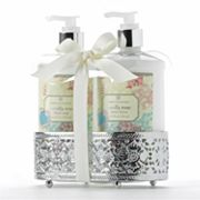 Simple Pleasures Vanilla Rose Hand Soap and Hand Lotion Caddy Gift Set