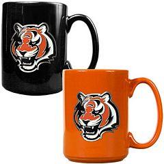 Cincinnati Bengals 2 pc Ceramic Mug Set