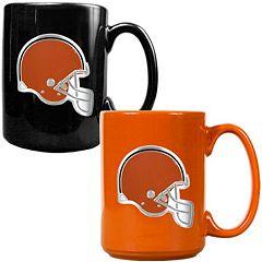 Cleveland Browns 2 pc Ceramic Mug Set