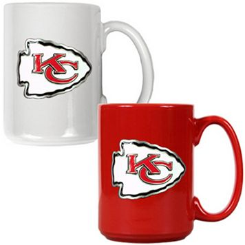 Kansas City Chiefs 2-pc. Ceramic Mug Set