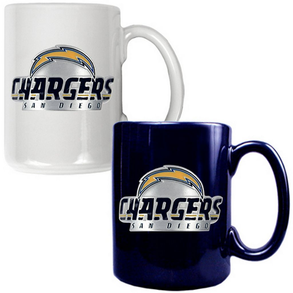 San Diego Chargers 2-pc. Ceramic Mug Set