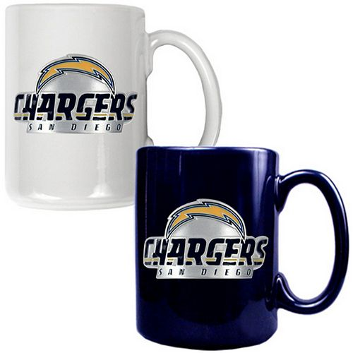 San Diego Chargers 2-pc. Ceramic Mug Set