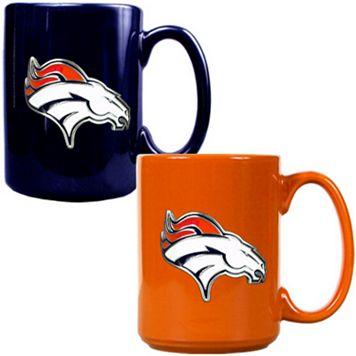 Denver Broncos 2-pc. Ceramic Mug Set