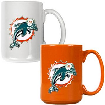 Miami Dolphins 2-pc. Ceramic Mug Set