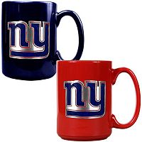 New York Giants 2 pc Ceramic Mug Set