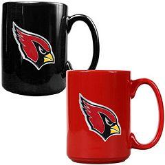 Arizona Cardinals 2 pc Ceramic Mug Set