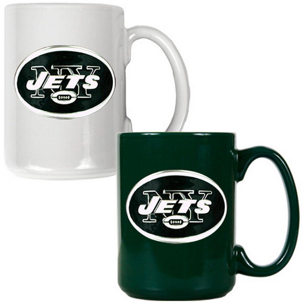 New York Jets 2-pc. Ceramic Mug Set