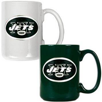 New York Jets 2-pc. Ceramic Mug Set