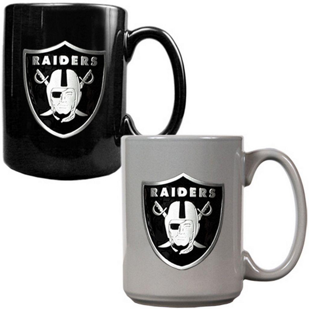 Oakland Raiders 2-pc. Ceramic Mug Set