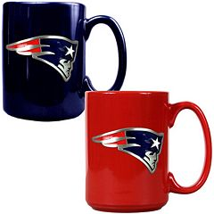 New England Patriots 2 pc Ceramic Mug Set
