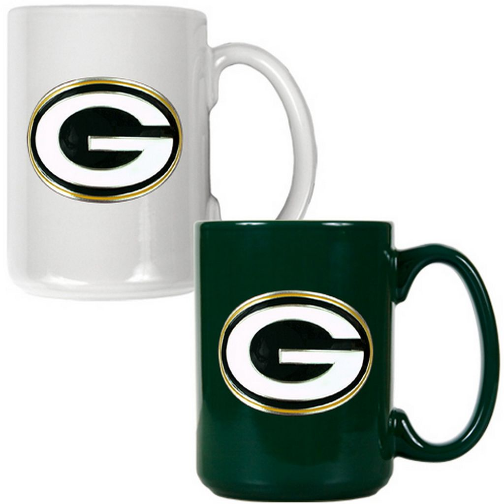 Green Bay Packers 2-pc. Ceramic Mug Set