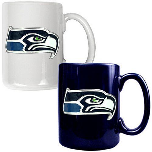 Seattle Seahawks 2-pc. Ceramic Mug Set