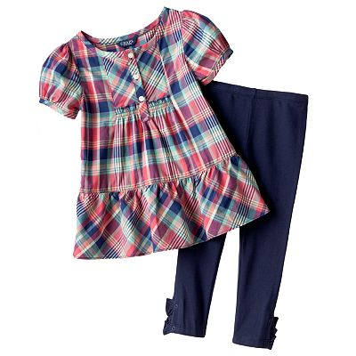 Chaps Plaid Tunic and Leggings Set - Toddler