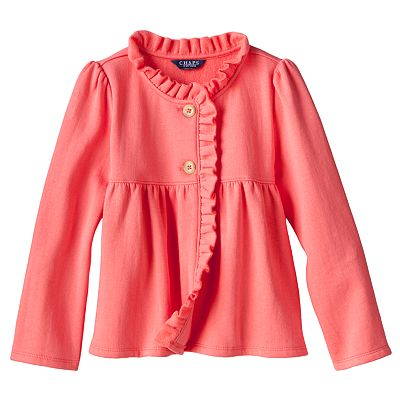 Chaps Ruffle Fleece Jacket - Toddler