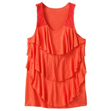 Candie's Tiered Crochet Tank - Girls 7-16
