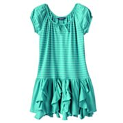 Chaps Striped Knit Dress - Toddler
