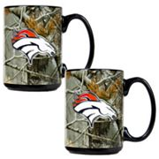Denver Broncos 2-pc. Open Field Ceramic Mug Set