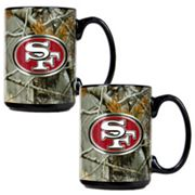 San Francisco 49ers 2-pc. Open Field Ceramic Mug Set