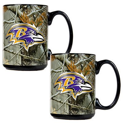 Baltimore Ravens 2-pc. Open Field Ceramic Mug Set