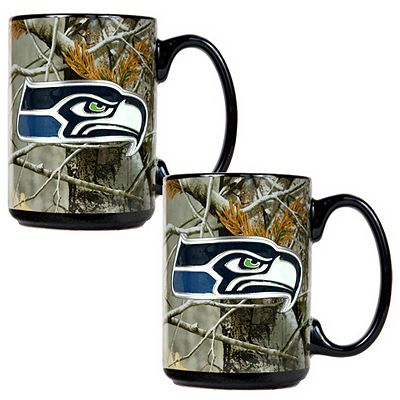 Seattle Seahawks 2-pc. Open Field Ceramic Mug Set