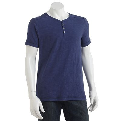 Rock and Republic Slubbed Raw Edge Henley