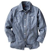 Chaps Plaid Woven Work Button-Down Shirt - Toddler