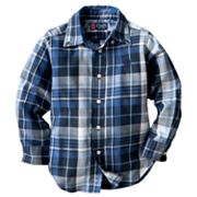 Chaps Plaid Twill Work Button-Down Shirt - Toddler