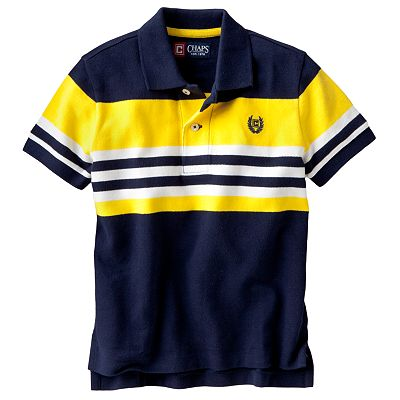 Chaps Striped Knit Polo - Toddler